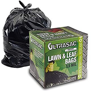 Aluf Plastics 769646 Ultrasac Heavy Duty Professional Quality Lawn and Leaf Trash Bag, 39 Gallon Capacity, 43