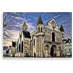 WSMSP 3D DIY PVC stickers muraux Palaver Cathedral Paris Photo Imprimer Autocollant Peinture Décorative Notre Dame19Apr 18 DropShipping Affiche 40 * 60 cm