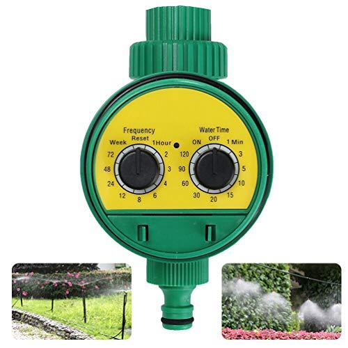 Dupeakya Ausrüstung Schlauch Timer 1 Outlet Schlauch Wasserhahn Timer Gartenbewässerung Timer mit Großen Komfortablen Tasten Anzug für Rasen Blumen Garten (Drei-tasten-anzug)
