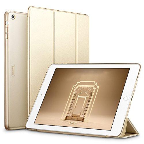 ESR iPad Air Hülle (NICHT für iPad Air 2), Auto aufwachen, Schlaf Funktion Wickelfalz Ledertasche mit Lichtdurchlässig Rückseite Abdeckung Leichtgewicht Schutzhülle für iPad Air/iPad 5 - Champagne Gold