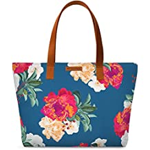DailyObjects Women's Canvas Romancing Nature Fatty Tote Bag (Multicolour)