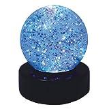 Glitterball LED Leuchte, Ø 7,5 cm, H 9 cm - Tischlicht, Dekolicht, Nachtlicht