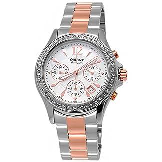 Orient Reloj Cronógrafo para Mujer de Cuarzo con Correa en Acero Inoxidable FTW00003W0