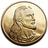 Jesús Cristo & Leonardo Da Vinci en la última cena Beautiful moneda 24K chapado en oro Alta Calidad ideal cristiano regalo religioso regalo.