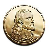 Jesus Christus & Leonardo da Vinci letzte Abendmahl Schöne Medaille 24K Gold Plated High Qualität ideal Christliches Geschenk Religiöse Geschenk zum Sammeln