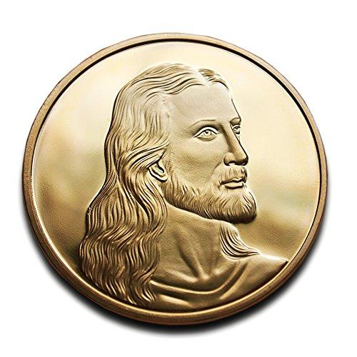 Jésus Christ et Léonard de Vinci la Cène Superbe pièce de monnaie Plaqué or 24K haute qualité Idéal chrétien Cadeau religieux à collectionner Cadeau