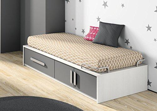 IDKID'S Bett Plattform 90x 190 anthrazit