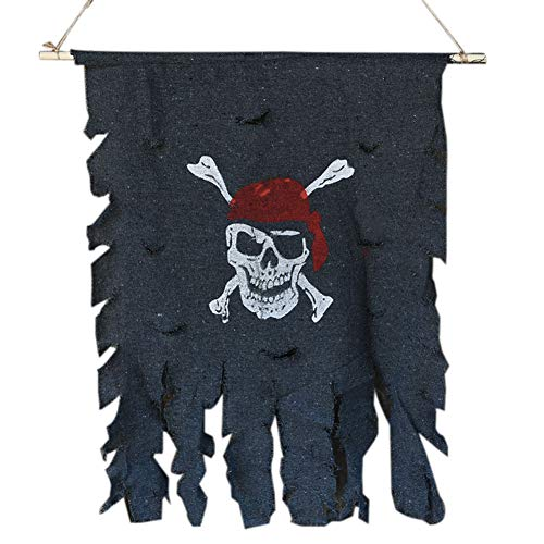 Casecover Cloth Schädel-Knochen-Piraten-Flagge Piraten-Flagge Hanging Verzierung Piraten-Thema-Party Supplies Bar Halloween Zubehör