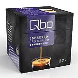 Qbo Kapseln - Espresso Oro Nariño (ausdrucksvoll-weich und harmonisch, milde Röst- und Kastaniennoten, 90% Arabica, 10% Robusta) (8x27 Kapseln)
