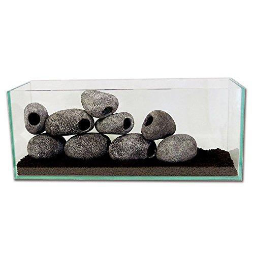 Generic Harz Einloch Cichliden Häuschen Felsen Höhle Stein für Aquarium Terrarium Dekor