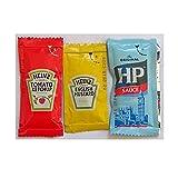 50 Heinz English Mustard, 50 Heinz Tomato Ketchup and 50 HP Sauce - Individual Sachets