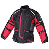 Modeka TOUREX KIDS Kinder Textiljacke - schwarz rot Größe 164