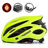KING BIKE Erwachsene Fahrradhelm für Herren Damen Frauen Sicherheit Hinten LED-Licht Helm Regenschutz Leicht (Grün)