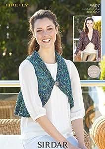 Sirdar Firefly Femme à tricoter circulaires Veste et Gilet sans manches pour femme Motif 9607