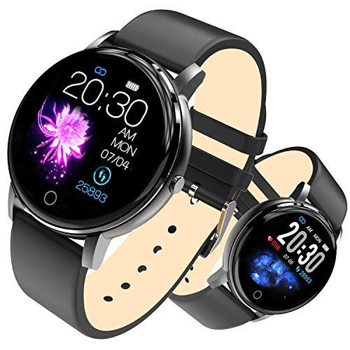Bluetooth Smart Watch, PHIPUDS Health & Fitness Tracker Smartwatch Blutdruck-Aktivitätsuhr, Anrufe SMS Benachrichtigung Fernbedienung Kamera Musik für iOS Android Handy