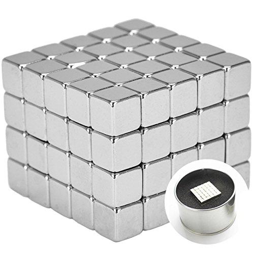 Neodym Magnetwürfel extra stark für Magnettafel, Whiteboard, Glasmagnettafel, Kühlschrank oder basteln + super Haftmagnete + n45 + quader + 5x5x5mm, 100STK