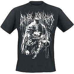 Batman Bat Metal Camiseta Negro M