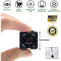 TDC - Mini Camara Espia Oculta HD 1080 - Cámara De Vigilancia Con Detector de Movimiento Vision Nocturna IR Microfono y Grabacion en Micro SD - Camara de Seguridad Interior/Exterior. Mini Spy Cam