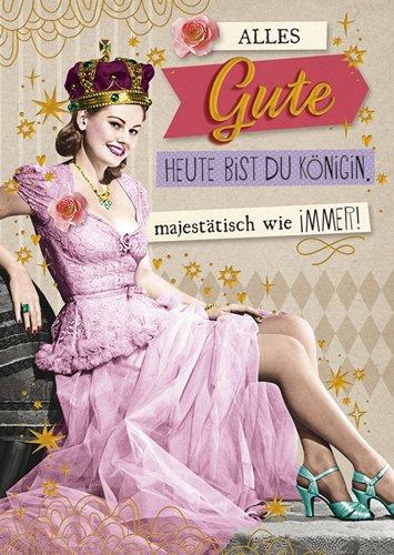 Postkarte A6 +++ LUSTIG von modern times +++ KÖNIGIN GOLD +++ BK.EDITION © Pigment Productions Ltd