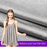 Gxrzyclh 1,5 m breite Abschirmung Stoff Stretch und Stricken Strahlenschutz Kleidung Transport, Bettwäsche, medizinische, spezielle Uniformen, Umstandsmode, Kostüme, Vorhänge,Gray,1m