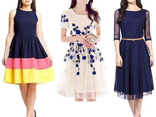 Market Magic World Women\'s Multicolor Western Wear Free Size Kurtis-Kurtas Combo Pack Of 3
