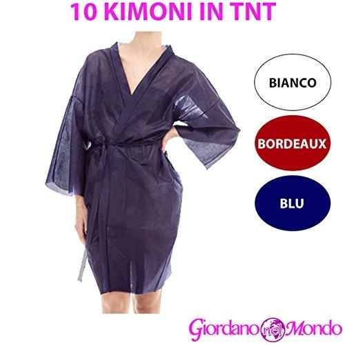 Kimono donna monouso camice in tnt per parrucchiere e estetista 10 pz divisa da lavoro usa e getta