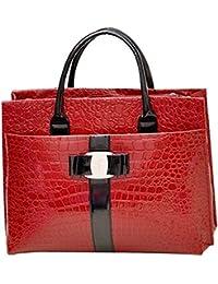 AByun Design Stylish Women's Tote Bag With Embossing And Metal Handbag