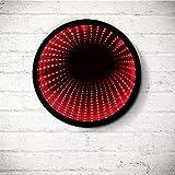 Luz infinita redonda de color negro