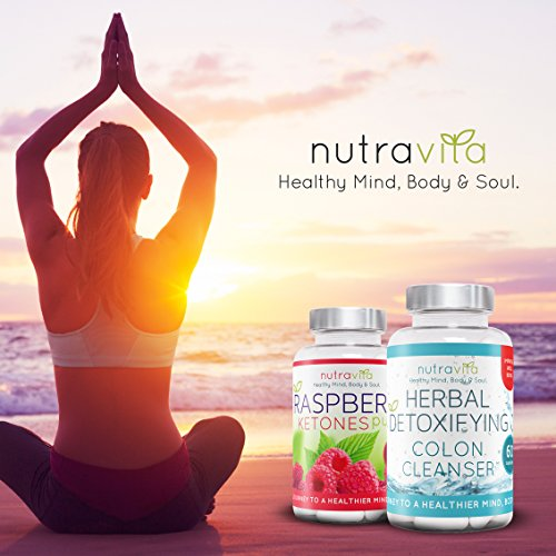 Raspberry Ketones and Colon Cleanse Weight Loss Detox Combo Pack by Nutravita | Made in the UK | New & Improved Formula