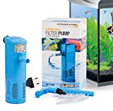 Aquaflow Technology® AIF-013M - Pompe de filtre pour aquarium submersible pour eau fraîche et eau salée. Pour réservoirs d'aquarium jusqu'à 100 litres. 600L/H 8W