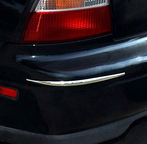 Preisvergleich Produktbild Hypersonic® HP6165 CHROM / SILBER Stoßstangenschoner Stoßstangenschutz Rammschutz fürs Auto , selbstklebend , flexibel , 2 STÜCK im Set , CHROM / SILBER,Bumper Guard
