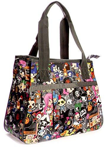 Big Handbag Shop - Sacchetto unisex Tote 865 - Rock Party Grey