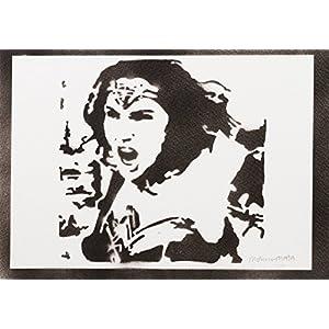 Wonder Woman Handmade Street Art - Artwork - Poster