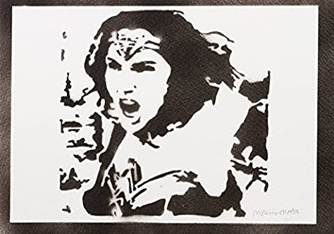 Wonder Woman Handmade Street Art - Artwork - Poster
