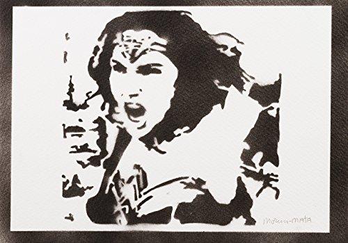 oman Justice League Handmade Street Art - Artwork - Poster (Damen Comic Figur Kostüme)