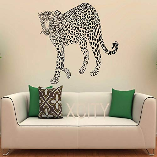 XCJX Leopard Wall Decal Vinyl Aufkleber Wild Cat Pride Tiere Home Interior Design Art Office Wandbilder Schlafzimmer Dekor 58 x 82 cm -
