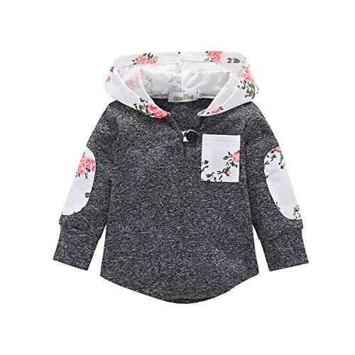 Quaan Herbst Winter Festival Kleinkind Säugling Baby Blumen Kapuzenpullover Tasche Sweatshirt zur Seite Fahren Warm Kleider Niedlich Party Kürbis Halloween warm weich gemütlich Outwear