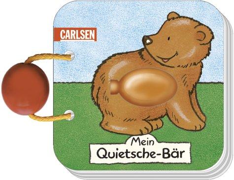 Mein Quietsche-Bär, m. Quietsche-Element u. Holzkugel -