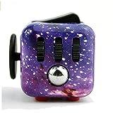 Jushi Lindert Stress und Angst Cube EDC Fidget Spielzeug für Kinder und Erwachsene Seeblaue