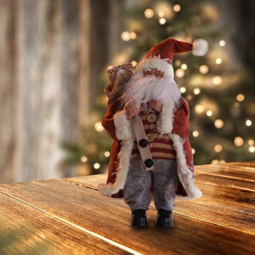 Valentino Weihnachtsdeko.Decoking 46241 Weihnachtsmann 43 Cm Nikolaus Weihnachtsfigur Weihnachtsdeko Weihnachtsschmuck Weihnachten Okri