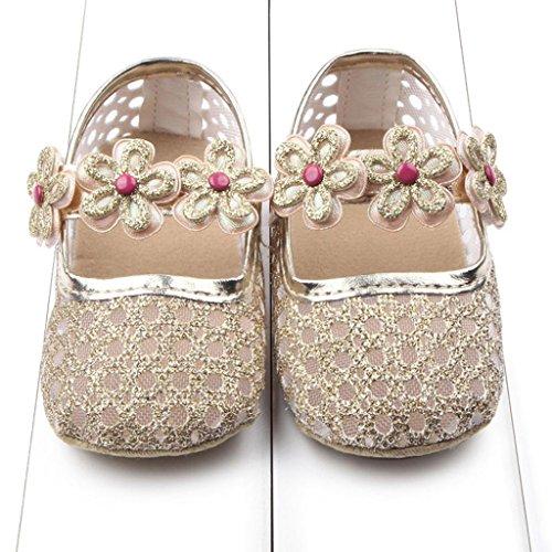Babyschuhe Jamicy® Baby Basic Turnschuh weichen Prewalker Krippe Schuhe (12~18 Monat, Gold) Gold