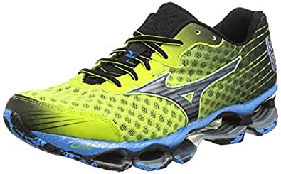 Mizuno Wave Prophecy 4, Chaussures de Running Entrainement Homme - Multicolore (Lime Punch/Black), 40
