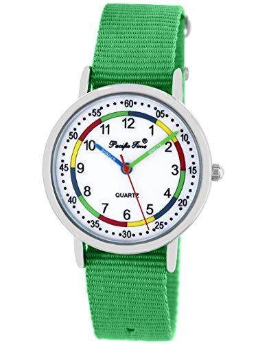 Pacific Time Mädchen Jungen Uhr analog Quarz mit Textilarmband 865230