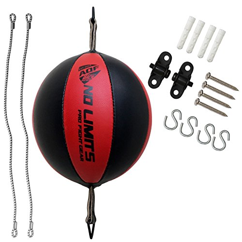 AQF Boxen Doppelendball Rex Leder Boxbirne Set MMA Punchingball Erwachsene Training Speedball Set