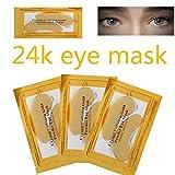 10 Paar Kollagen Augenpads Eye Patch Profi Augen Gel Patch Wirklich Effektiv für Anti-Falten Augenbeutel (Gold)