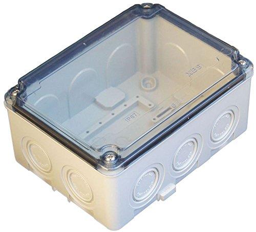 ELO-150A Verteilerkasten Industriegehäuse Leergehäuse Verteilergehäuse Klarsichtdeckel IP67 150 x 110 x70 -