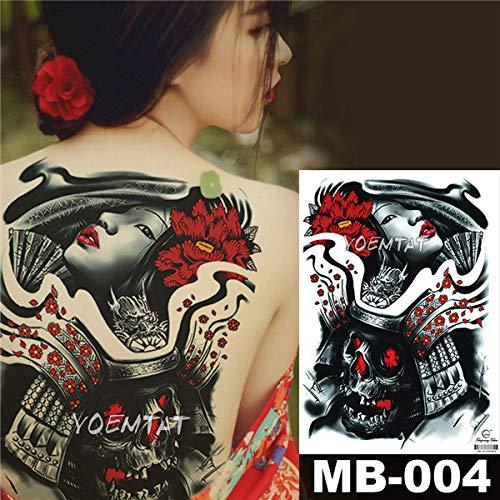 tzxdbh 2 Stücke-Blume Tattoo Aufkleber Damen Brust Bauch Kostüm Studio Rose Pfirsich Pfingstrose Tattoo Aufkleber 2 Stücke- (Dishonored Kostüm Party)