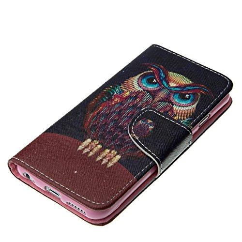 MOONCASE Étui pour Apple iPhone 6 / 6S (4.7 inch) Printing Series Coque en Cuir Portefeuille Housse de Protection à rabat Case Cover XK13 XK01 #0226