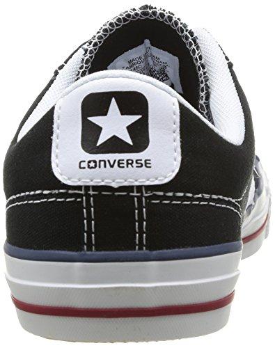 Converse Star Player Adulte Core Canvas Ox, Baskets mode mixte adulte Noir (Noir/Blanc)