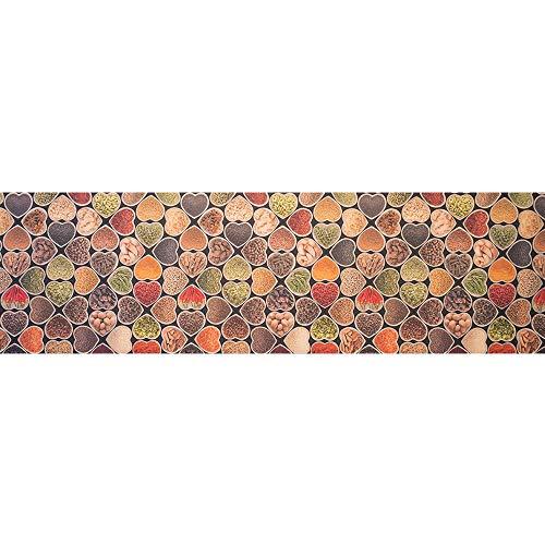 feab547acd Tappeto passatoia fantasia made in Italy antiscivolo lavabile aderente  Cuori spezie - Cuori - 50x200 cm